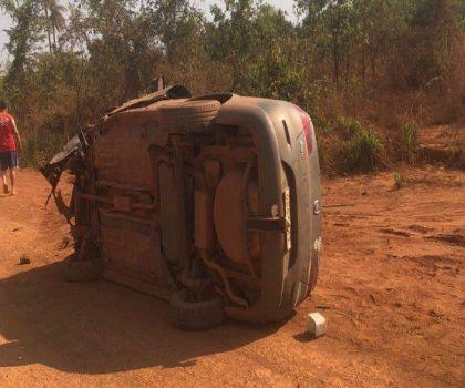 Colisão frontal entre carros deixa pelo menos quatro feridos na BR-158 próximo ao Luizinho