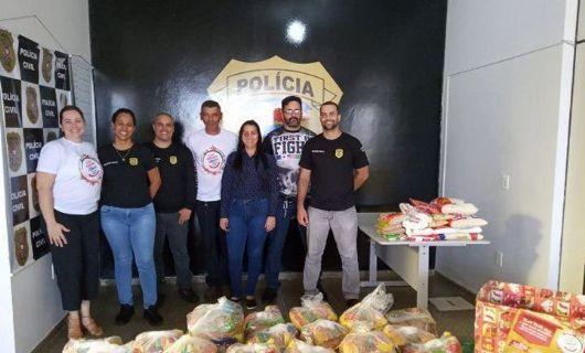 Polícia Civil de Água Boa arrecada 300 kg de alimentos na Campanha Natal Solidário
