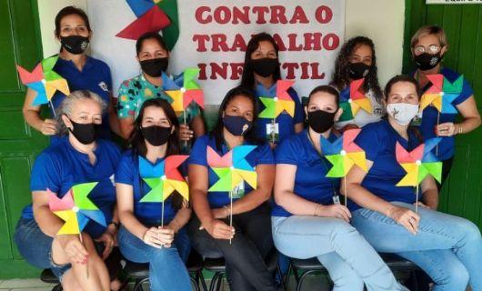 Secretaria de Assistência Social realiza trabalho de conscientização contra o trabalho infantil em Vila Rica