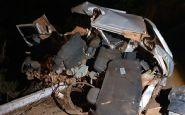 Acidente entre caminhão caçamba e Fiat Uno deixa dois mortos na BR-158 em Vila Rica; veja fotos