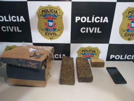 Jovens são presos em flagrante transportando maconha em caixa de sapato em Confresa