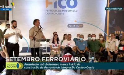 Bolsonaro autoriza início das obras da Fico, que irá escoar produção de grãos da região de Água Boa