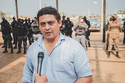 Prefeito de Confresa acompanha deflagração pública da operação das forças de segurança em Confresa