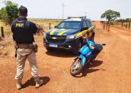 PRF localiza motoneta abandonada em Nova Xavantina