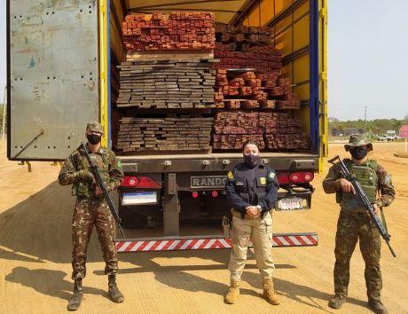 PRF realiza operação 'Madeira de Lei' em Mato Grosso