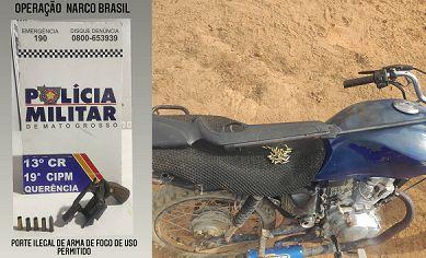 Em menos de 24 horas, PM apreendeu armas na área urbana e rural de Querência