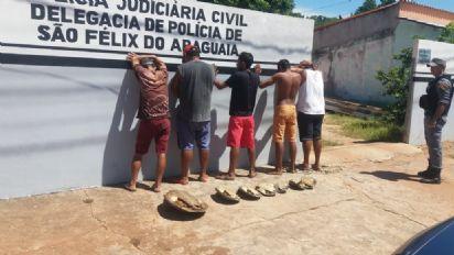 Cinco são presos após serem flagrados com tartarugas abatidas em São Félix do Araguaia