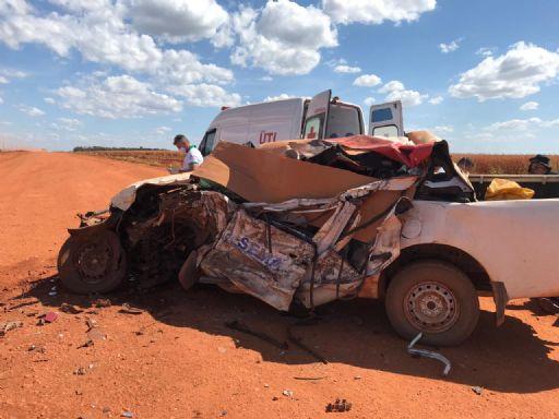 Funcionários da Sema de Confresa se envolvem em grave acidente na BR-158; dois morreram