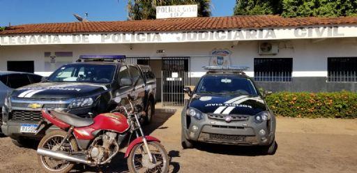 Motocicleta furtada em abril é localizada pela Polícia Judiciária Civil em Nova Xavantina
