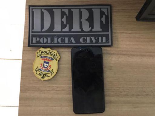 DERF recupera celular roubado de moradora de Confresa em Santa Terezinha