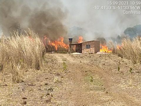 Incêndio consome cerca de 30 hectares no Assentamento Piracicaba em Confresa
