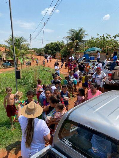 Ação entre amigos em Porto Alegre do Norte arrecada mais de 1.000 brinquedos para crianças do município