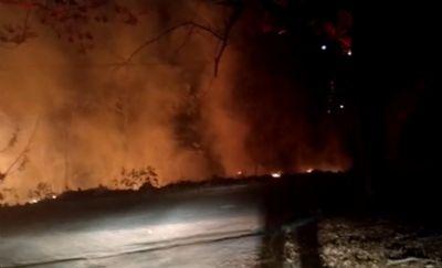 Câmeras registram homem colocando fogo no centro de bairro de Nova Xavantina; veja vídeo